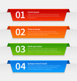 colorful infographic banners tabbed labels vector image vector image