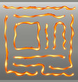 creative of iron weld seam vector image vector image