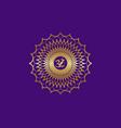 crown chakra sahasrara 7th chakra gold mandala vector image vector image