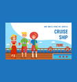 cruise liner ship travel banner web design vector image vector image