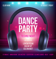 dance party poster placard invitation music club vector image vector image