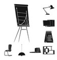 design furniture and work icon vector image vector image