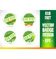 Eco diet Badge vector image vector image