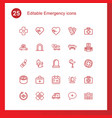 emergency icons vector image vector image