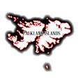 falkland islands vector image vector image