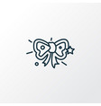 festive bow icon line symbol premium quality vector image vector image
