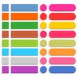 Flat blank web button internet icon set vector image vector image