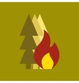 flat icon on stylish background forest fire vector image vector image