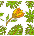 flower leaf pattern seamless template vector image
