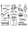 gentleman accessories hipster or businessman vector image vector image