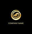 gold leaf round organic logo vector image vector image