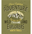 Great outdoor adventure vector image vector image