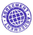 grunge textured agreement stamp seal vector image