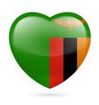 Heart icon of Zambia vector image vector image
