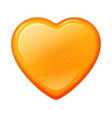 honey heart shape isolated on a white background vector image vector image