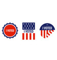 i voted sticker design for elections vector image vector image