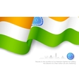 Indian Tricolor Flag vector image vector image