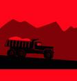 industrial landscape big black dump truck vector image vector image