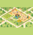 isometric playground with children or kids vector image