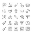 medical and health doodle icons vector image vector image
