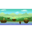mobile app game landscape level vector image vector image