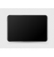 modern black tablet pc with blank screen object vector image vector image
