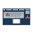 notebook keyboard panel vector image