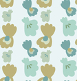 Pearl in the seashell seamless pattern vector image vector image