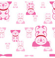 pigs seamless pattern vector image