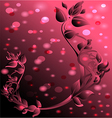 pink background with floral ornament vector image vector image