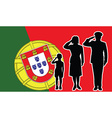 Portugal soldier family salute vector image vector image