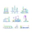 Production storage of oil transportation drawings vector image vector image