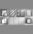 realistic interior frames 3d mockups with shadow vector image