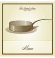 restaurant menu cover vector image vector image