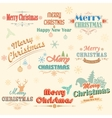 Retro Vintage Merry Christmas labels vector image