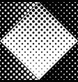 seamless black and white abstract circle pattern vector image vector image