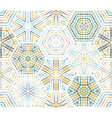 Seamless ethnic textile hexagons pattern vector image vector image
