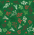 seamless holiday background abstract leaves vector image vector image