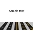set roads with white and yellow markings in vector image vector image