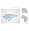 set senegal country isometric 3d map senegal vector image vector image