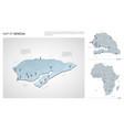 set senegal country isometric 3d map senegal vector image