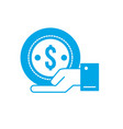 silhouette businessman with coin cash money in the vector image vector image