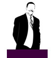 silhouette handsome mfn vector image vector image