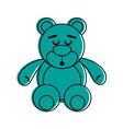 teddy bear sleep related icon image vector image
