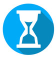 time or sandglass icon of set material design vector image