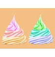 Two cream colored tiers vector image vector image