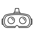 virtual reality glasses icon outline style vector image