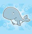 whale underwater vector image vector image