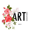 wild roses flower watercolor realistic herb leaf vector image
