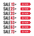 Sale red letters tags Font and text with special vector image